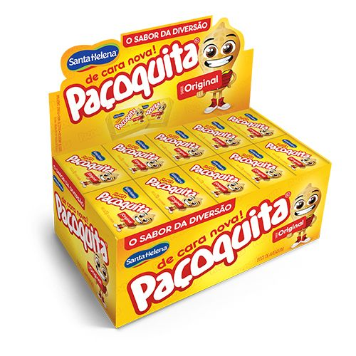 Paçoquita Retangular Embalada Display 1kg